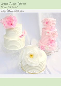 Learn to make gorgeous wafer paper flowers!!   This online video is available to members of MyCakeSchool.com.