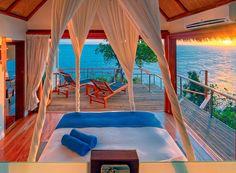 Royal Davui Island Resort, Pool Suite (West) Bedroom #fiji #islands #travel
