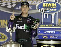 Congrats to Denny Hamlin wins at Bristol - the 20th Cup race of his career and the record 200th win for the No. 11!