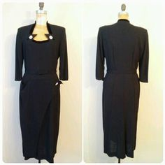 Hey, I found this really awesome Etsy listing at https://www.etsy.com/listing/264668566/vintage-1940s-black-crepe-evening-gown