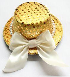 """Llanura de lentejuelas mini sombrero de copa 5"""" diámetro en múltiples colores fascinator vestido de lujo 12pcs/lot comple..."""