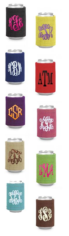 Marleylilly.com - $14.99 Our Monogrammed Jute Drink Wraps are perfect for any outdoor event! #burlap #southern #love #monogram