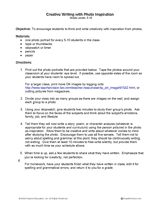 Creative Writing with Photo Inspiration Printable (3rd - 12th Grade) - TeacherVision.com