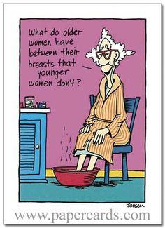 Women Have 1 Card Envelope Oatmeal Studios Funny Birthday