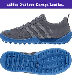 adidas Outdoor Daroga Leather Outdoor Shoe (Little Kid/Big Kid), Onix/Grey/Shock Blue, 2.5 M US Little Kid. An easy to wear outdoor shoe that looks like an outdoor sneaker but is ready-to-hike. Made from durable suede leather with a protective toe cap and a non-slip outsole that features lug details.