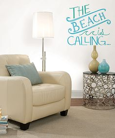 This 'Beach is Calling'  Wall Quote Decal Set by WallPops! is perfect! #zulilyfinds