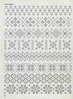 some fair isle patterns These would be great for the palms of mittens!See 4 Best Images of Knitting Fair Isle Pattern ideas about filet crochet charts onpergamano - Page and can be subtle too. Fair Isle Knitting Patterns, Fair Isle Pattern, Knitting Charts, Lace Knitting, Knitting Stitches, Weaving Patterns, Cross Stitch Borders, Cross Stitch Charts, Cross Stitch Designs