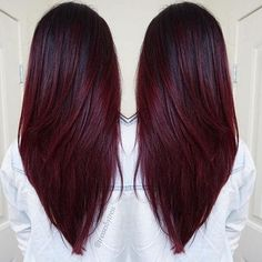 straight-v-hairstyles-long-hair-2017-cherry-wine-hair-color