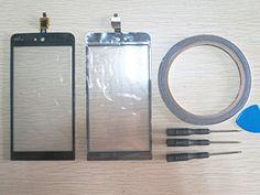 cool Reparación pantalla cristal Touch Screen para WIKO RAINBOW Jam 3G digitalizador Negro + Herramientas & cinta adhesiva