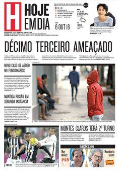 Capa do dia 06/10/2016 #HojeEmDia #Jornal #Notícias #News #Newspaper