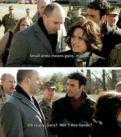 Couldn't and wouldn't stop lol! Please stop you both! Gary vs Dan (vs T-rex) #veep