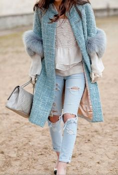 Pale denim