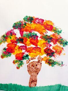 """Fall Tree"". Footprint tree for infants."