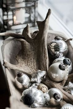 **1** (for 2015)Driftwood for Christmas..so pretty and simple in a dough bowl**