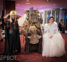 The Junk Lady got to pose with Jareth and Ballroom Sarah at DragonCon 2016.