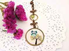 Cute Owl on The Tree Image Bronze Pendant Bag by PrettySang, $8.90
