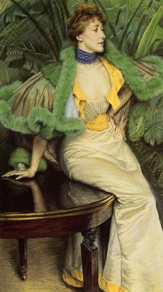 The Princess of Broglie, pastel, ca. 1895 ~ James Tissot (French with much of career in Britain, 1836-1902)