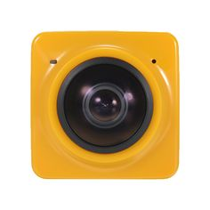 CUBE 360 Degree Camera Yellow Support Micro Sdhc with Accessories