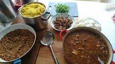 Making of biryani