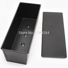 Black Toat Bread Mould With Lid Nontick Metal Cake Mold Kitchen Cooking Tool Q18