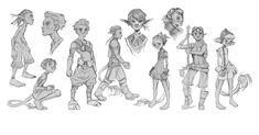 Characters Sketch by atomhawk.deviantart.com on @deviantART