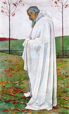 The Athenaeum - HODLER, Ferdinand Swiss Art Nouveau (1853-1918)_Autumn Composition for Eurythmics- 1892