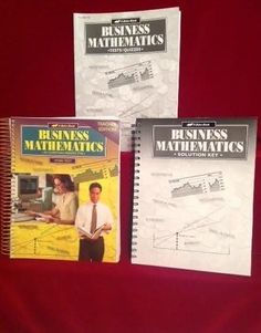 Abeka Business Mathematics Teacher Ed. & Solution Key, Test/Quiz Key, LN, 10-12  #TeacherEdSolutionKeyTestQuizKey