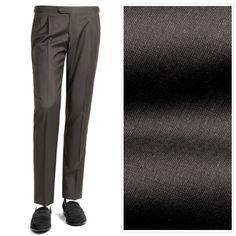 。ジェルマーノ GERMANO / 18SS!ウールトロピカルサイドアジャスター2プリーツパンツ『329G-4608』(ダークブラウン)【ハンガー便選択OK】 / メンズ ブランド 春夏 スラックス トラウザーズ ビジネス ウール 2タック ボトムス Suits, Suit, Wedding Suits