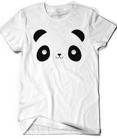 Panda Bear Shirt Tee Animal Lover Funny T-Shirt Cute T Tee Mens Women Ladies Birthday Gift Idea Present Bear Children Kids Toddler Xmas