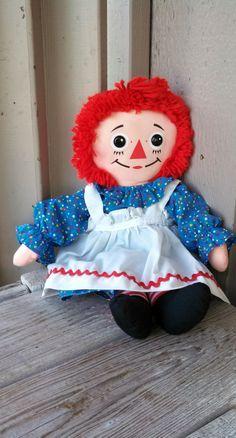 Vintage Playskool 18 Raggedy Ann Doll by robynsetsy on Etsy, $18.00