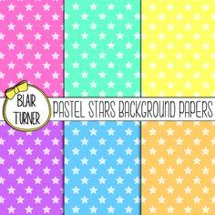 Pastel Stars Background Papers Freebie! - BlairTurner.com