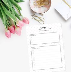 Personalized To Do List Notepad  Bow and by LetterLoveDesigns