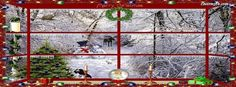 Christmas Through The Window Facebook Covers, Christmas Through The Window FB…