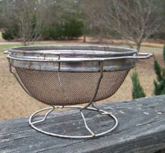 Vintage Mesh Colander...Standing by AlloftheAbove on Etsy, $14.00