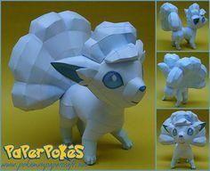 Paperized: Pokemon: Aloan Vulpix Papercraft
