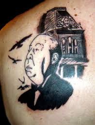alfred hitchcock tattoos