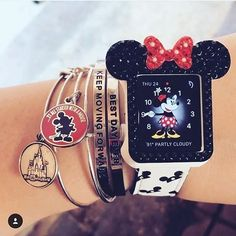 """The Disney Collection by – [pin_pinter_full_name] The Disney Collection by Bracelets by ALEX AND ANI and Lillian and Co. Apple watch cover by Repost from """"It all started w… Chip Und Dale, Telefon Apple, Disney Collection, Cute Disney Outfits, Cute Disney Stuff, Apple Watch Fashion, Tsumtsum, Apple Watch Accessories, Disney Couture"""
