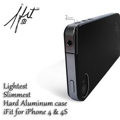 www.brightstore.us  iFit is the Slimmest & lightest hard aluminum case in the world. iFit stylish design offers the right protection for your iPhone without compromising its size, shape or weight. To apply, peel off the inner mask & press gently. The iFit inner cushion ensures a proper fit & does not leave any residue on the back of your iPhone. It is reusable even after several applications. iFit is suitable for iPhone 4-4S. Package includes two FREE screen protectors