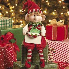 "12"" Elf with Envelope for Card Gift Holiday Chistmas Santa Helper Santa's Elves"