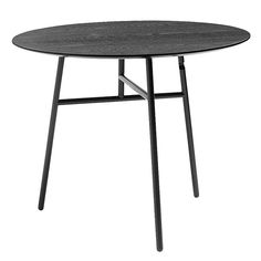 The charming Tilt Top table from Hay is Scholten & Baijing's modern take on 18th century Dutch tables, designed to fold together and save space in cramped homes. When the table is not in use, the top and the base will form a completely flat piece of furniture that is easy to store away.