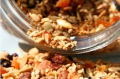 Coconut Granola combines nuts, oats, and coconut for a healthy snack on the run
