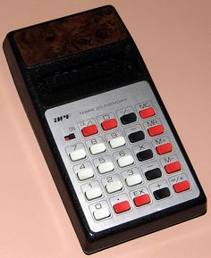 Vintage APF Mark 25/Memory Electronic Pocket Calculator, VFD, Made In Japan, Circa 1975.