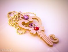 You gals have been requesting this for so long, so here it is!  A pendant based off of Chibiusa's time key.