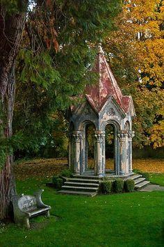 english garden Garden buildings, Gothic garden, Am - Beautiful Architecture, Beautiful Landscapes, Architecture Design, Building Architecture, English Architecture, Beautiful Buildings, Garden Buildings, Garden Structures, Amazing Gardens