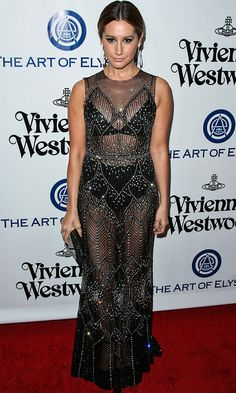 Ashley Tisdale arrives at the Art of Elysium Heaven gala in Los Angeles on Saturday.