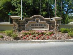 The Cobblefield neighborhood is located in SW Gainesville. View homes for sale in Cobblefield. Entrance Signage, Exterior Signage, Entrance Design, Entrance Ideas, Address Signs For Yard, Compound Wall Design, Monument Signs, Church Signs, Farm Signs