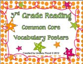 3rd Grade Common Core Reading Vocabulary Posters product from Mrs-Floods-Friends on TeachersNotebook.com
