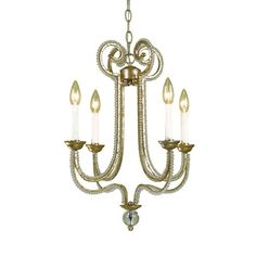 Camerson Mini Chandelier from Candice Olsen - purchased from Joss & Main for over the new kitchen island.  Love the sparkle!