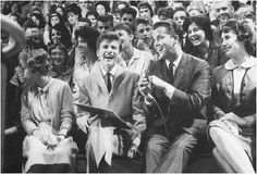 Dick Clark (holding microphone) with 1950s teen idol Bobby Rydell on American Bandstand.    Archive Photos. Reproduced by permission  Full Text:  COPYRIGHT 2002 U*X*L, COPYRIGHT 2006 Gale, Cengage Learning.