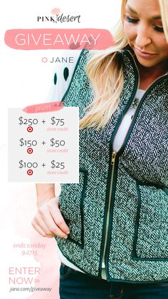 I entered the Jane #Giveaway for a chance to #win a $250 Target Gift Card & CUTE clothes! Ends 9/27